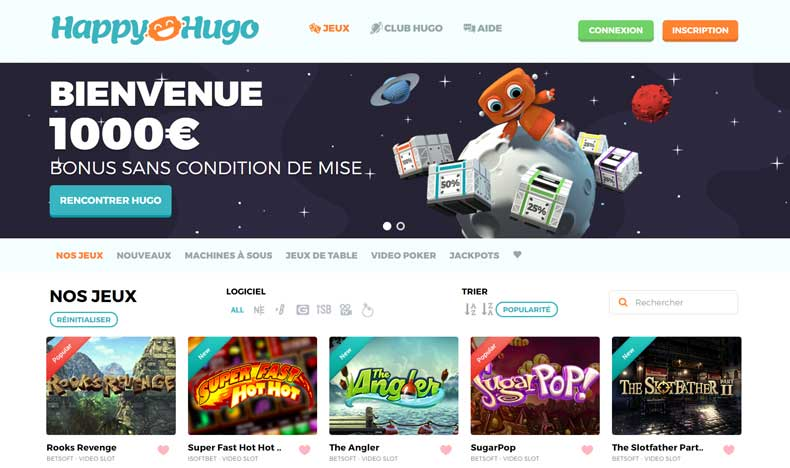 Avis du casino Happy Hugo